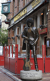 Rock God Phil Lynott statue on Harry St.
