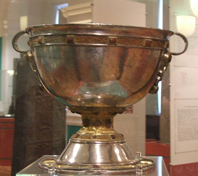 The Derrynaflan Chalice. Discovered with metal detectors on a protected historical site. The legal arguments over ownership of the Chalice and other discoveries led to new legislation to outlaw treasure hunting in Ireland. (Photo credit: Kglavin via wikipedia commons)