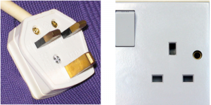 The 3-pin-plug, used in Ireland and the UK.