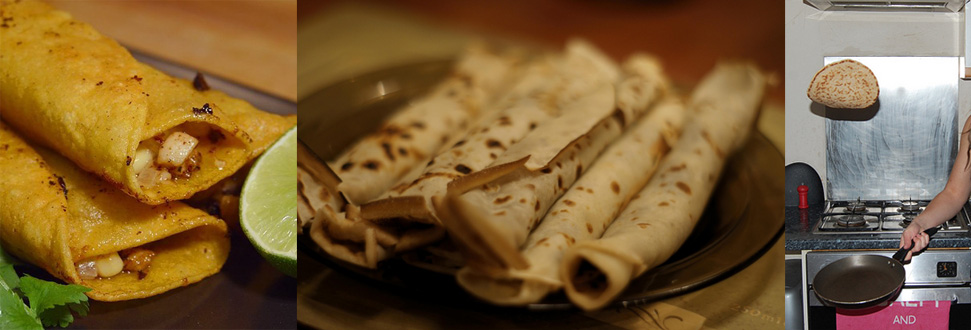 "Nicely rolled Irish pancakes, and ""The Flip"" in action. Credits: PHPhoto/Pixabay, karpathi Gabor/Morguefile, StaffsLive/Flickr"
