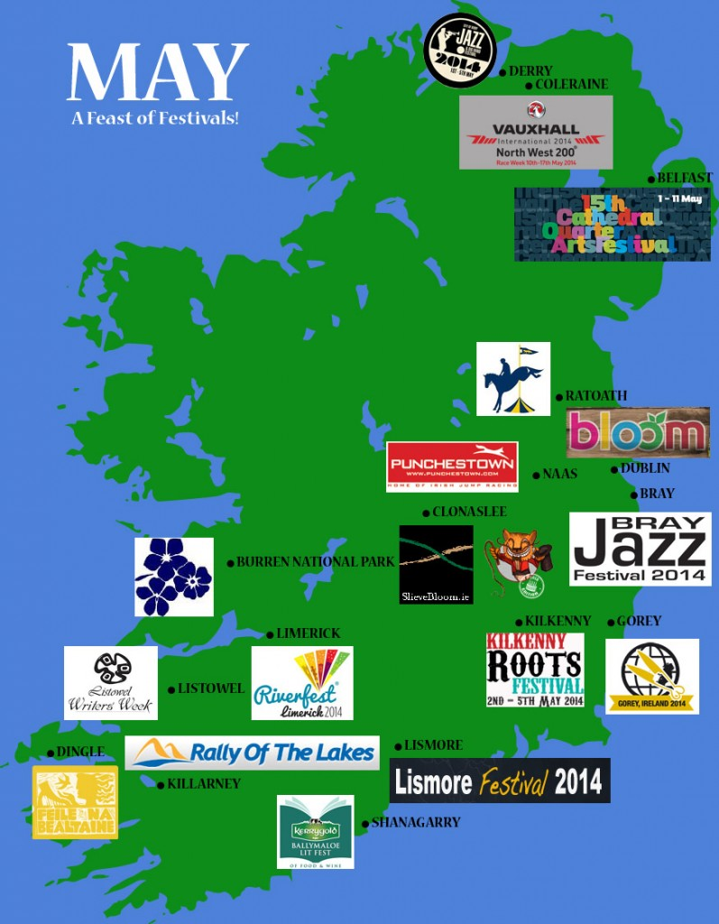 Ireland May Festival Map